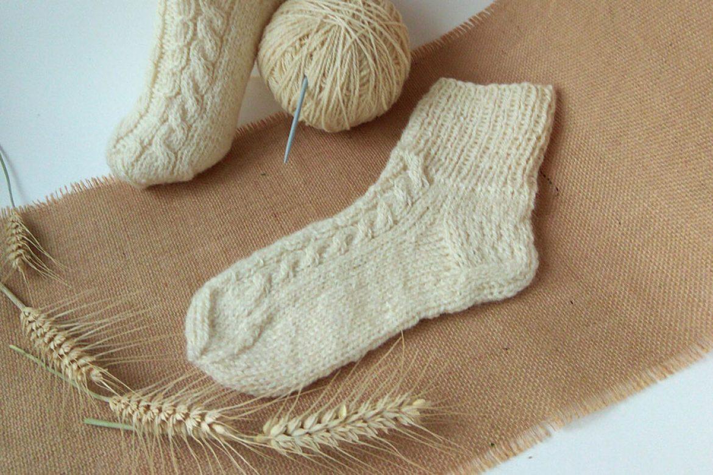 New warm socks from organic wool