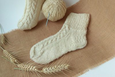 New warm socks from organic wool