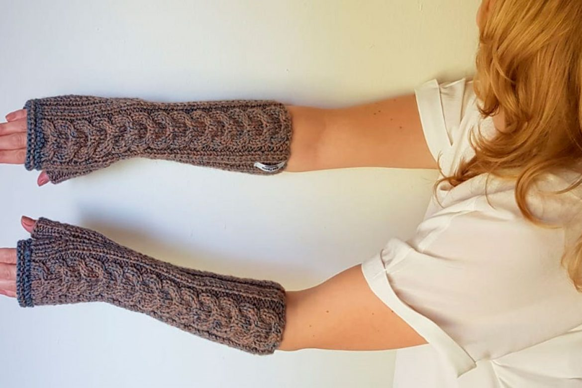 Grey Hand warmers made by KasTania-Handmade With Love from soft wool